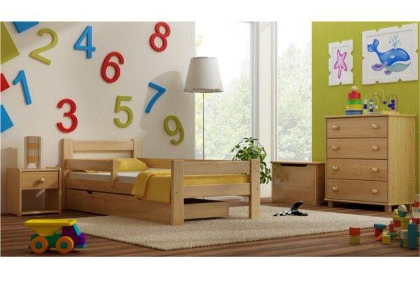 Kinderbett Max incl. Schublade Massivholz