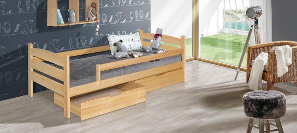 Kinderbett Mauritius Massivholz 200x90cm zwei Schubladen ohne Matratze