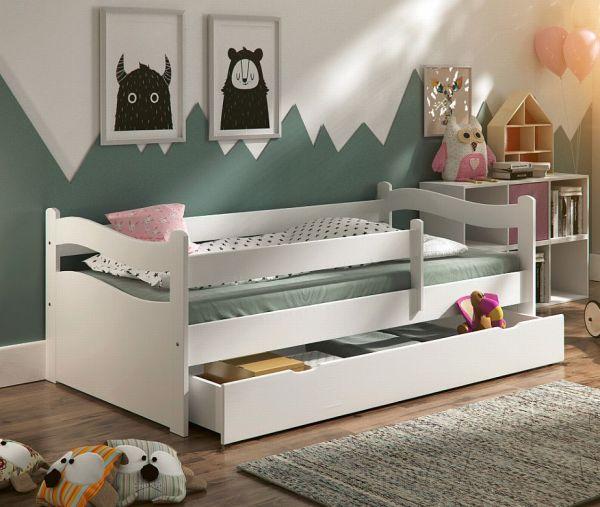Kinderbett Jugendbett Kinderzimmer ABBY + Schublade + Lattenrost + Matratze