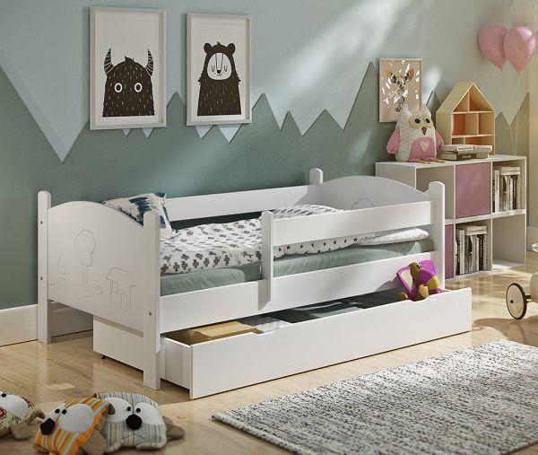 Kinderbett Häuschen incl Rollrost und Matratze