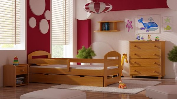 Kinderbett Jugendbett Teddy Plus Lattenrost +Schublade