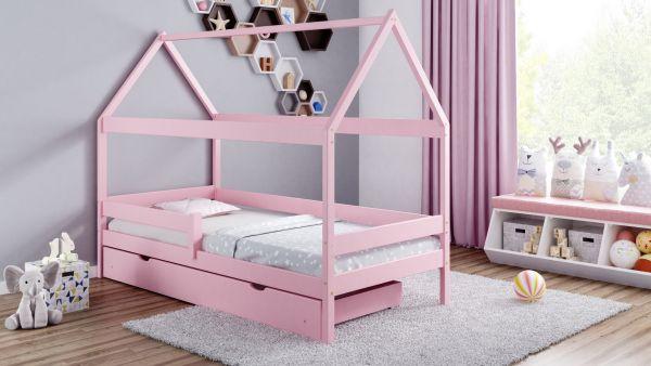 Kinderbett Home Plus Massivholz komplett inkl. Schublade und Matratze